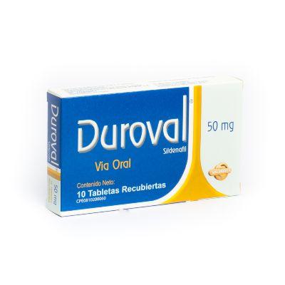 Sildenafil Duroval 50 Mg X 10 Tabletas