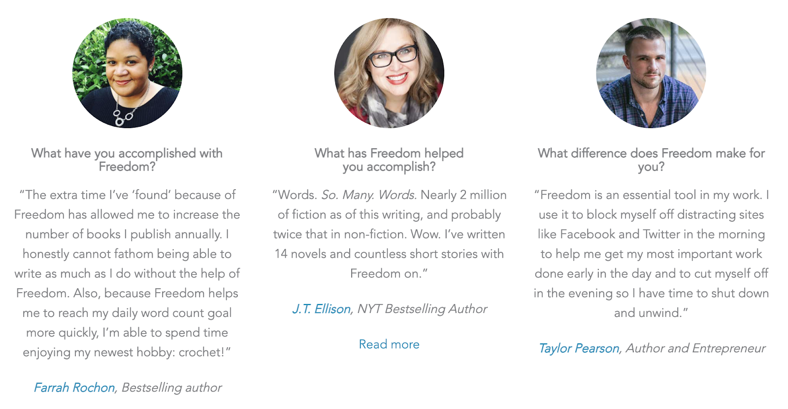 Writers who love the Freedom app for writing