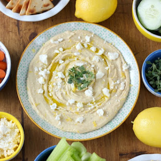 Lemon Thyme Hummus with Feta.