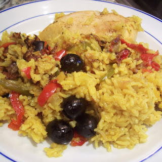Puerto Rican Chicken and Rice.