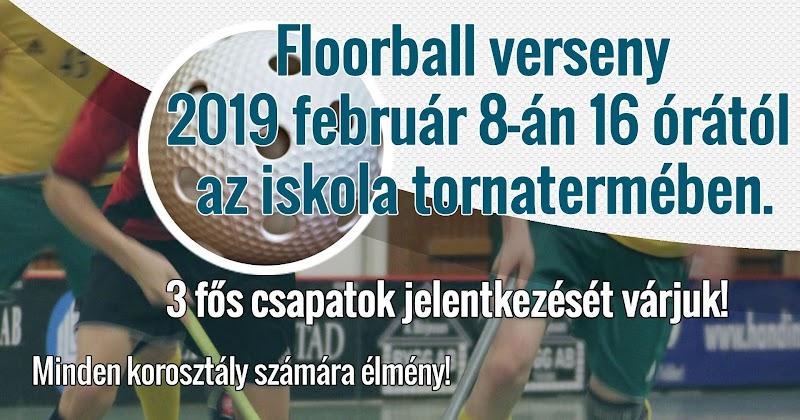 Floorball 2019 február 8-án 16 órától az iskola tornatermében