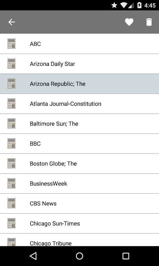 US Newspapers - screenshot