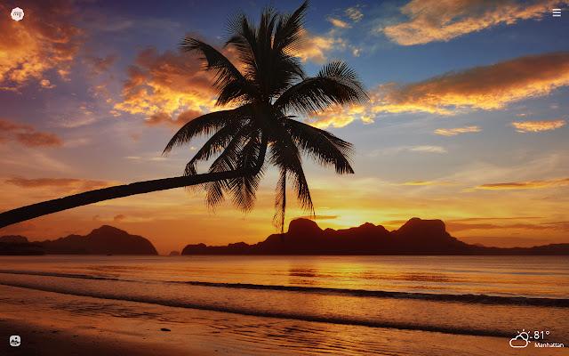 My Hawaiian Sunset HD Wallpapers New Tab