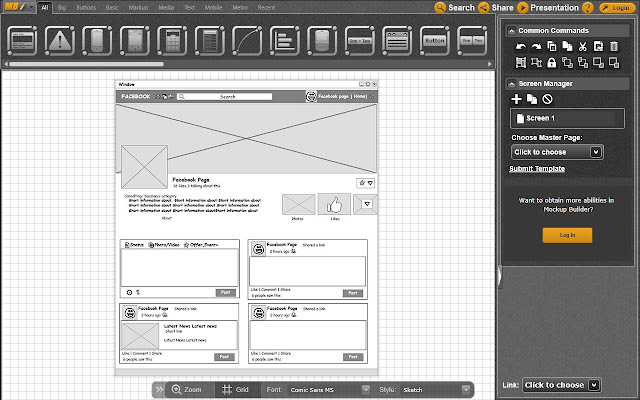 an error occurred - Wireframe Design Tool Online