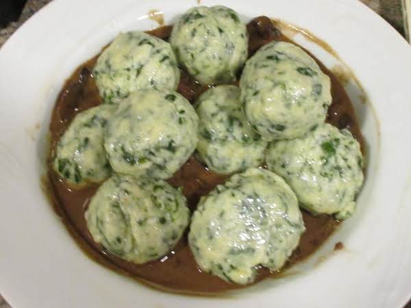 Spinach Ravioli Gnudi In Balsamic Mushroom Sauce Recipe