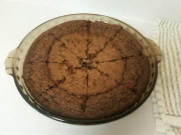 Carolyn's No Crust Fudge Pie