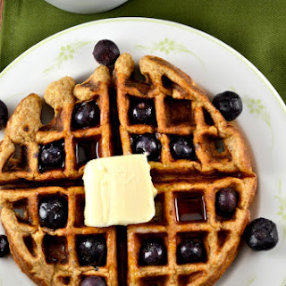 Whole Wheat Blueberry Waffles