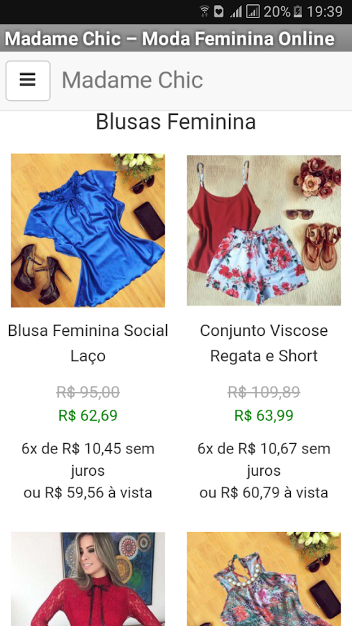 Madame Chic: captura de tela
