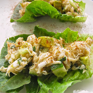 Crab Salad Lettuce Cups {Mayonnaise Free}.