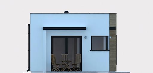 G254 - Budynek rekreacji indywidualnej - Elewacja lewa