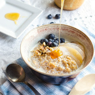 Coconut Porridge with Poached Pears Recipe