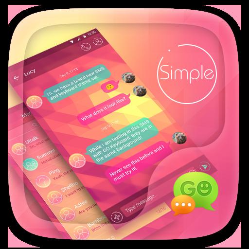 (FREE) GO SMS SIMPLE THEME (app)