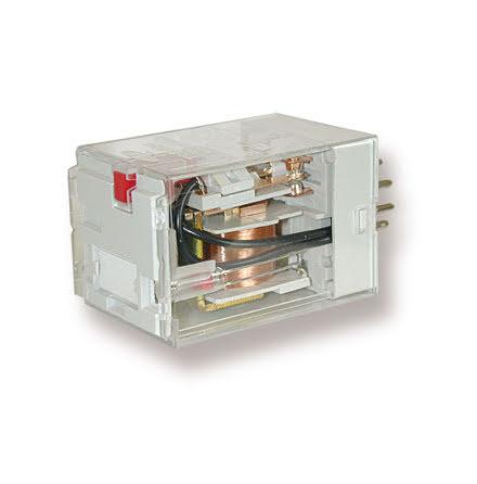 Relä TRP 6934-48V AC med mekanisk indikering och testknapp