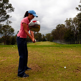 Drive by Cristobal Garciaferro Rubio - Sports & Fitness Golf ( ball, grass, drive, tee, driving, lady, taylor made )