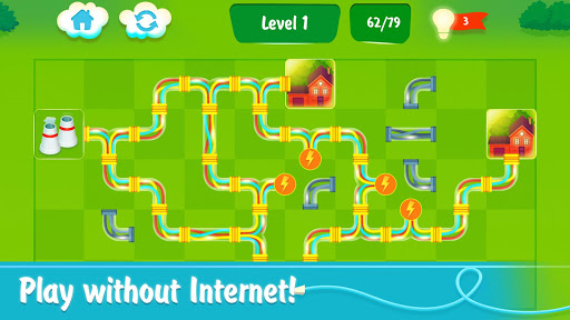 Energy - power lines (new puzzle game) - screenshot