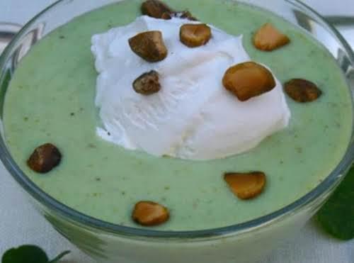 "Homemade Pistachio Pudding ""I never had homemade pudding! Pistachio was always my..."