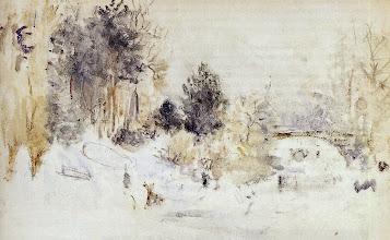 """Photo: Berthe Morisot, """"Paesaggio invernale"""""""