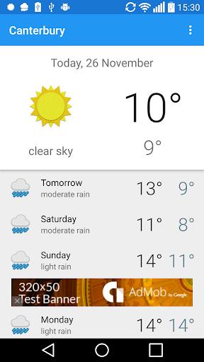 Canterbury UK weather