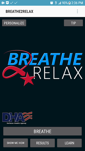 Breathe2Relax screenshot for Android
