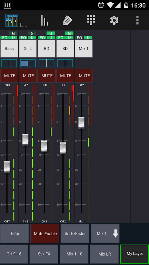 Mixing Station Qu Pro- screenshot