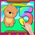 Glitter Number Coloring Book icon