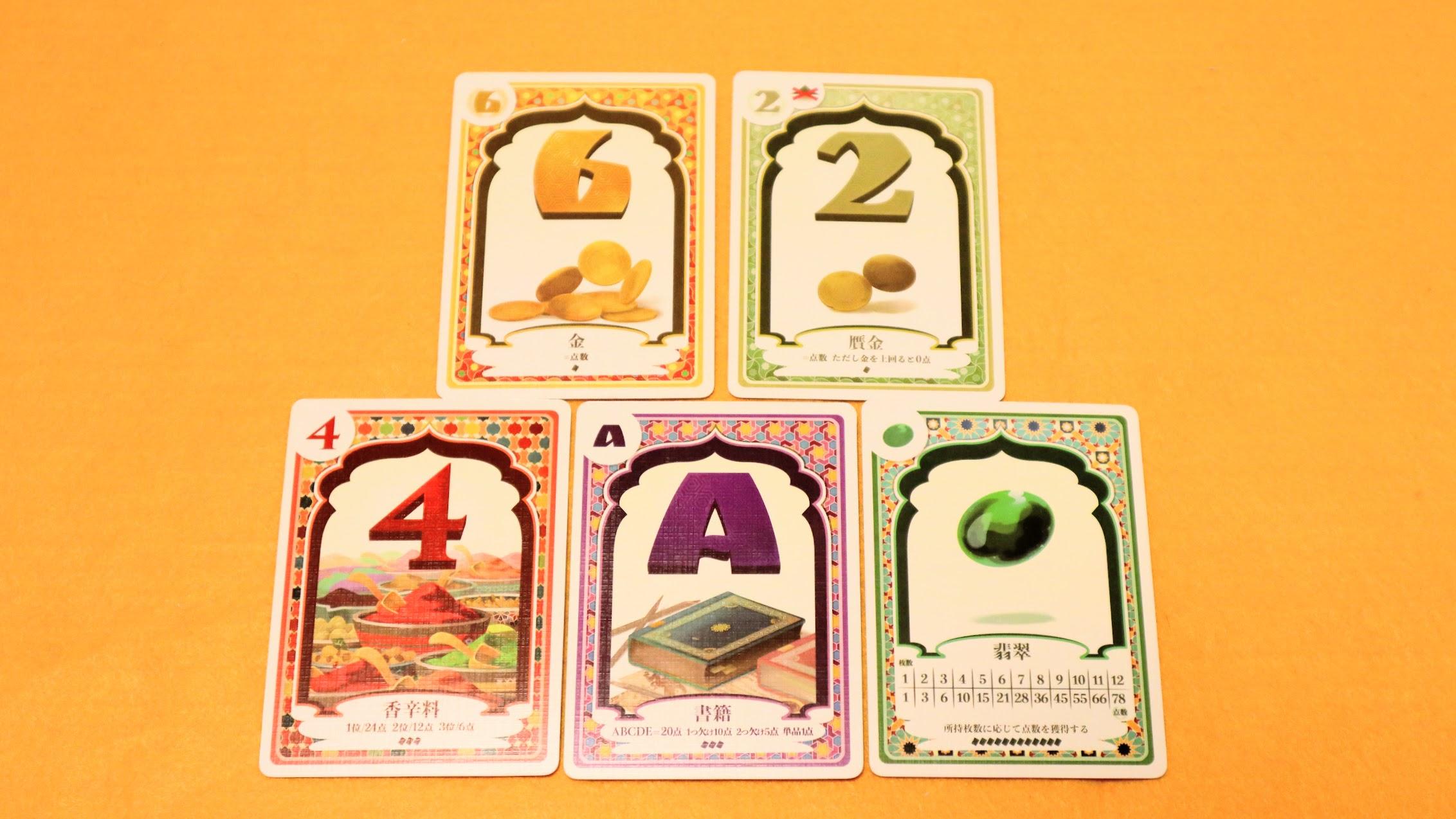 カード構成と得点|翡翠の商人