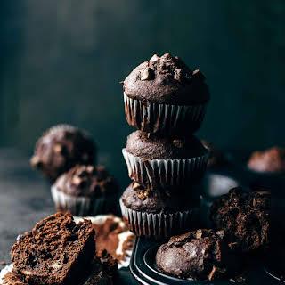 Soft and Moist Chocolate Banana Muffins.