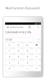 Quickey Multi Calculator Free- screenshot thumbnail