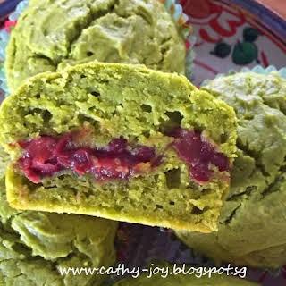 Matcha Yoghurt Azuki Muffins.