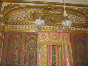 Photo: And this is the bedroom of Louis XIV . Opulent.