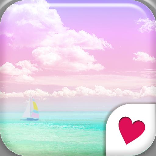 おしゃれなきせかえ壁紙★パステルカラーの綺麗なビーチ 個人化 App LOGO-APP試玩