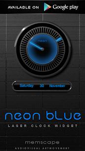 NEON BLUE Smart Launcher Theme 2.30 5
