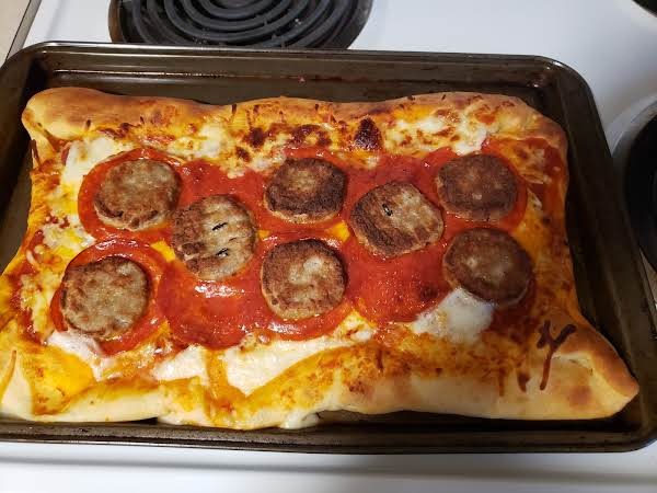 Stuffed Crescent Pepperoni And Maple Sausage Pizza