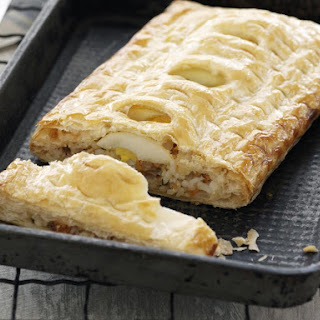 Rice and Salmon in Puff Pastry