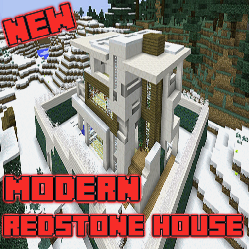 Modern Mansion Redstone MAP For MCPE