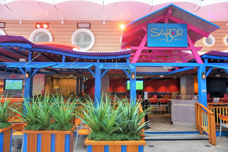 Head to Sabor Taqueria & Tequila Bar on Harmony of the Seas when you're in the mood for Mexican or margaritas.