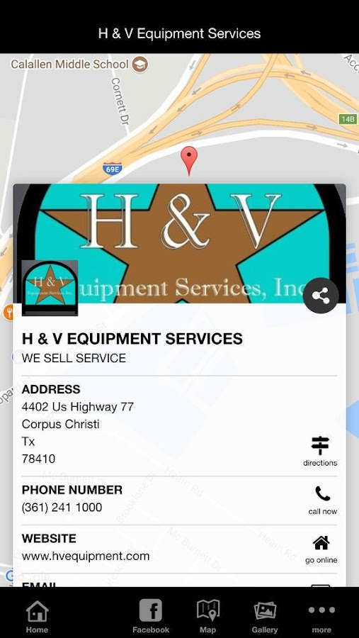 H & V Equipment Services- screenshot
