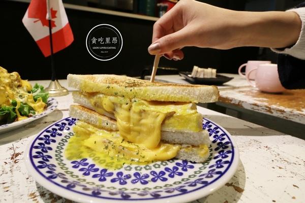 板橋早餐「就是要吃早餐」.睡過頭還想吃早餐?讓熔岩爆漿起司豬排蛋滿足你!