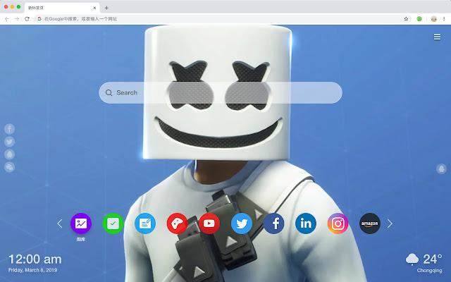 Marshmello Fortress HD Hot New Tab Theme