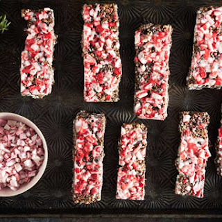 Peppermint Bark Granola Bars.