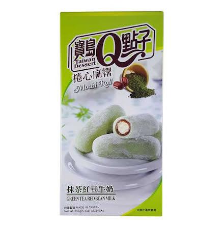 Mochi Roll Green Tea Red Bean 150g He Fong