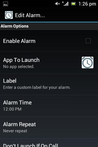 App Activator Alarm