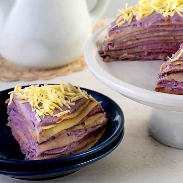 trending recipes creamy ube crepe cake