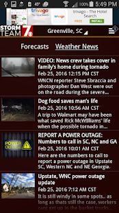 WSPA Weather- screenshot thumbnail