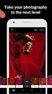 Screenshots of VSCO for iPhone