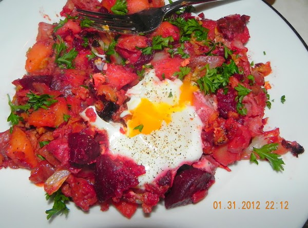 Then plate up your Red Flannel Hash with or w/o eggs. Serve with some...