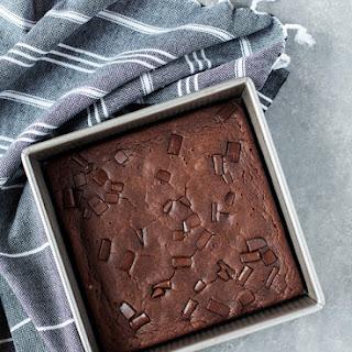 Vegan, Gluten Free Dark Chocolate Espresso Brownies.