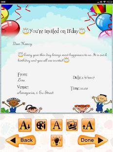 Kids birthday invitation maker android apps on google play kids birthday invitation maker screenshot thumbnail stopboris Choice Image
