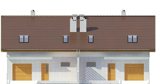 Radosna z garażem 1-st. bliźniak A-BL2 - Elewacja przednia