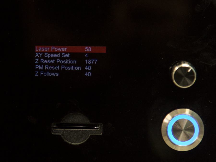These are all the laser related settings you would change if you used a different brand of resin.